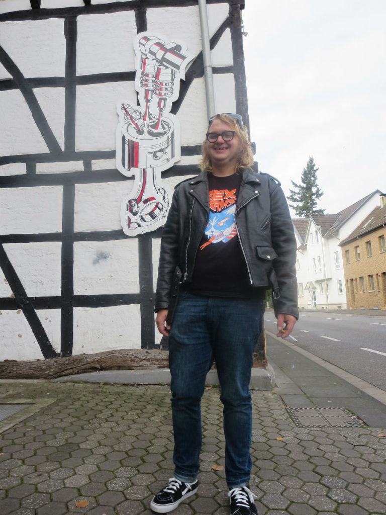 Me outside of the place we stayed in Bonn